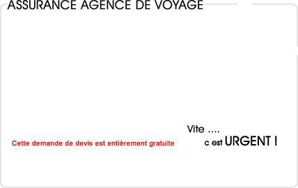 assurance agence de voyage