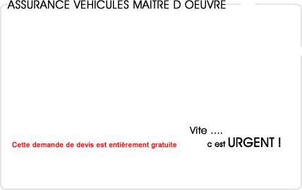 assurance automobile maitre d'oeuvre
