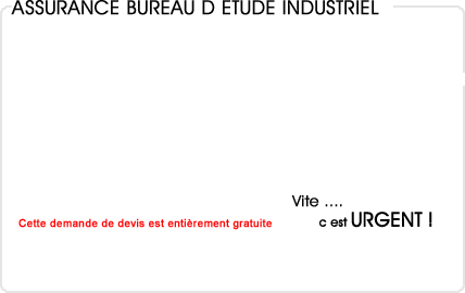 assurance bureau d'étude industriel