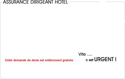 assurance dirigeant hotel