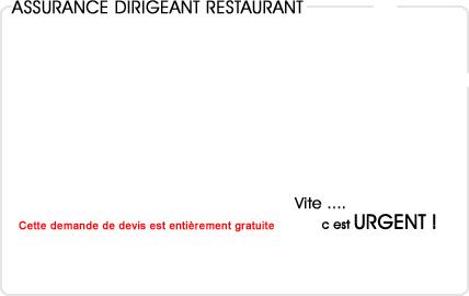 assurance dirigeant restaurant