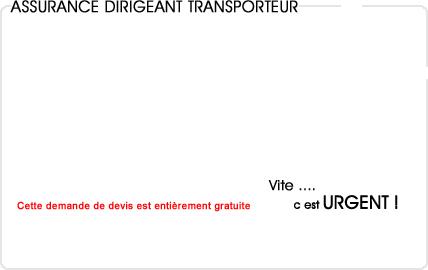 assurance dirigeant transporteur