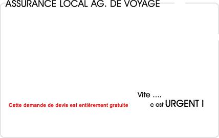 assurance local agence de voyage