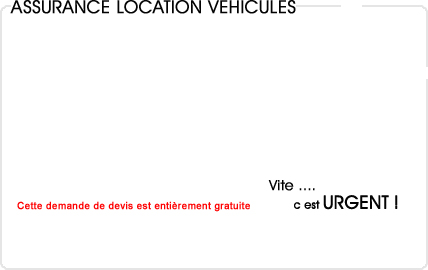 assurance location de véhicule