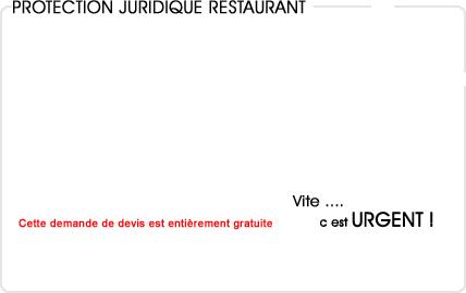 assurance protection juridique restaurant