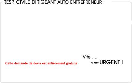 assurance responsabilité civile dirigeant auto entrepreneur