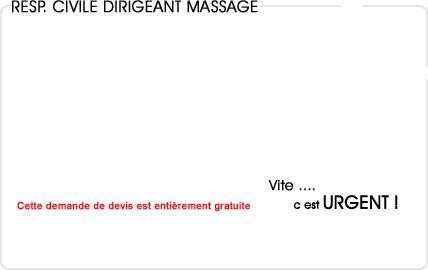 assurance responsabilité civile dirigeant massage