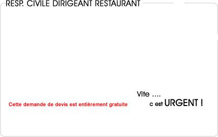assurance responsabilité civile dirigeant restaurant